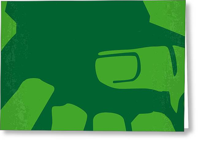 No040 My HULK minimal movie poster Greeting Card by Chungkong Art