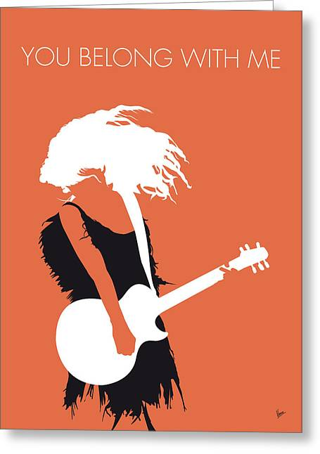 With Love Greeting Cards - No043 MY TAYLOR SWIFT Minimal Music poster Greeting Card by Chungkong Art
