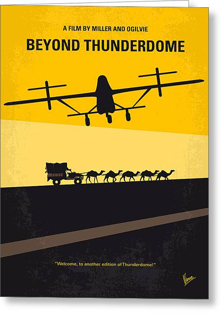 No051 My Mad Max 3 Beyond Thunderdome Minimal Movie Poster Greeting Card by Chungkong Art