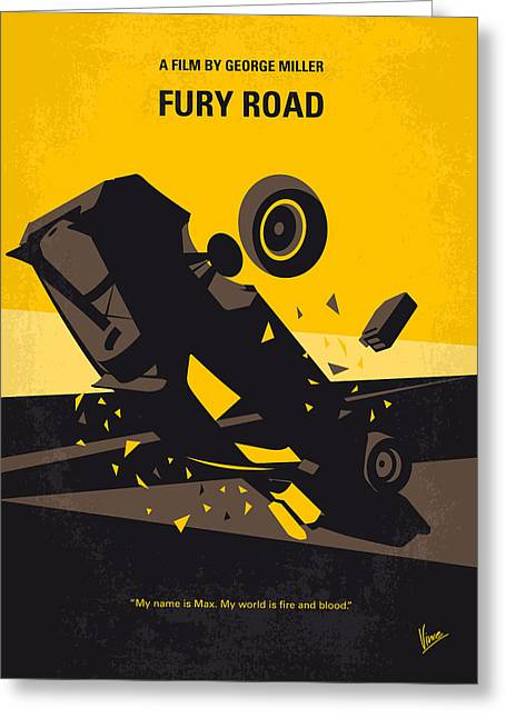 No051 My Mad Max 4 Fury Road Minimal Movie Poster Greeting Card by Chungkong Art