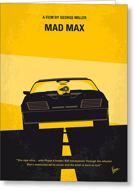 Gibson Greeting Cards - No051 My Mad Max minimal movie poster Greeting Card by Chungkong Art