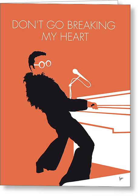 No053 My Elton John Minimal Music Poster Greeting Card by Chungkong Art