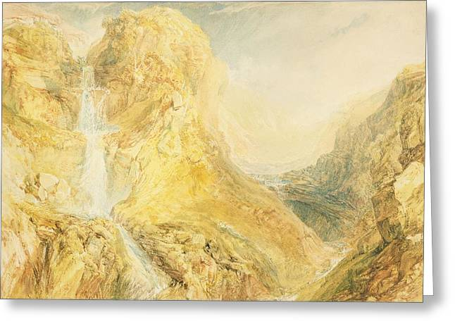 8cm Greeting Cards - No.0571 Mossdale Fall, Yorkshire Greeting Card by Joseph Mallord William Turner