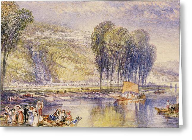 Waterfall Drawings Greeting Cards - No.0574 St. Cloud, 1832-33 Greeting Card by Joseph Mallord William Turner
