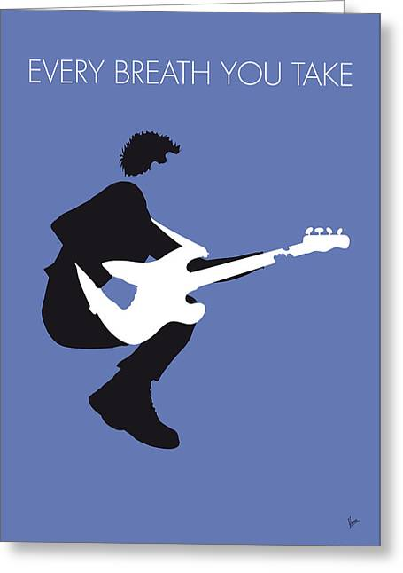 Song Digital Greeting Cards - No058 MY THE POLICE Minimal Music poster Greeting Card by Chungkong Art