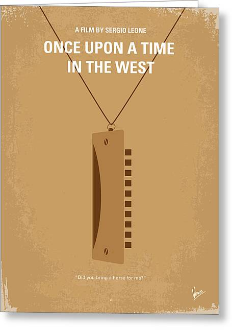Movie Art Greeting Cards - No059 My once upon a time in the west minimal movie poster Greeting Card by Chungkong Art