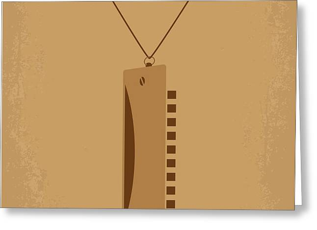 No059 My once upon a time in the west minimal movie poster Greeting Card by Chungkong Art
