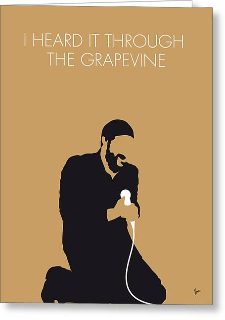 Through Greeting Cards - No060 MY MARVIN GAYE Minimal Music poster Greeting Card by Chungkong Art