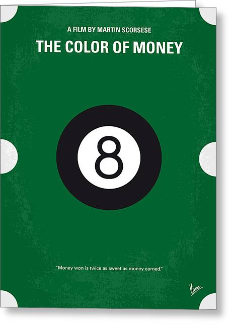 Hall Digital Art Greeting Cards - No089 My The color of money minimal movie poster Greeting Card by Chungkong Art