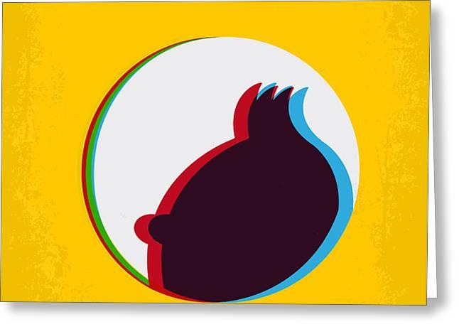 No096 My TINTIN-3D minimal movie poster Greeting Card by Chungkong Art