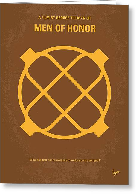 Classic Hollywood Greeting Cards - No099 My Men of Honor minimal movie poster Greeting Card by Chungkong Art