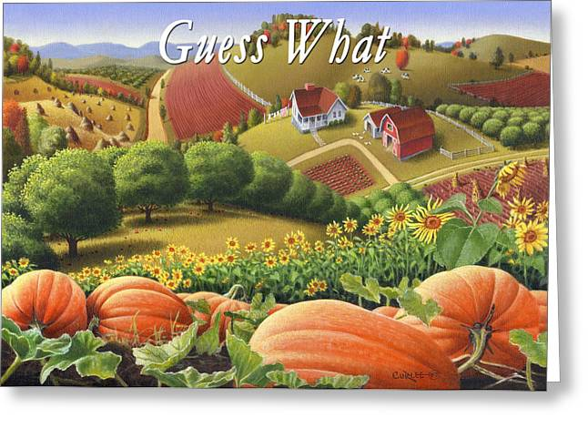 Sunflower Patch Greeting Cards - no10 Guess What  Greeting Card by Walt Curlee