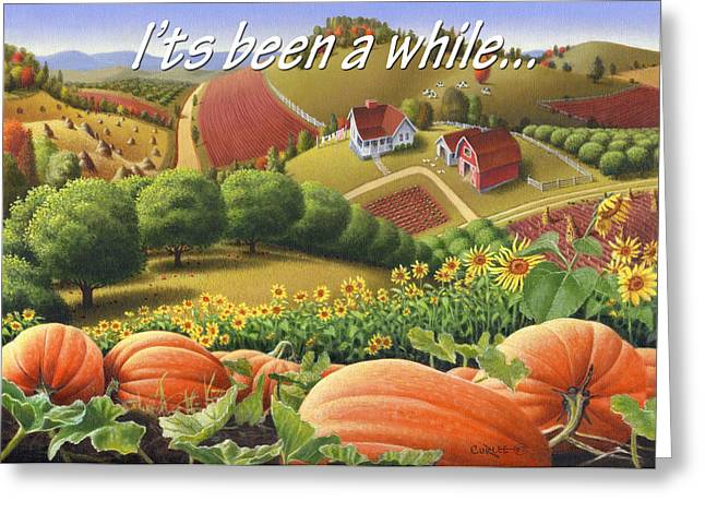 Sunflower Patch Greeting Cards - No10 Its been a while greeting card  Greeting Card by Walt Curlee