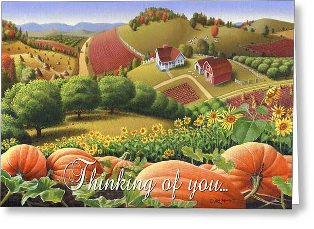 Amish Family Greeting Cards - No10 Thinking of you greeting card Greeting Card by Walt Curlee