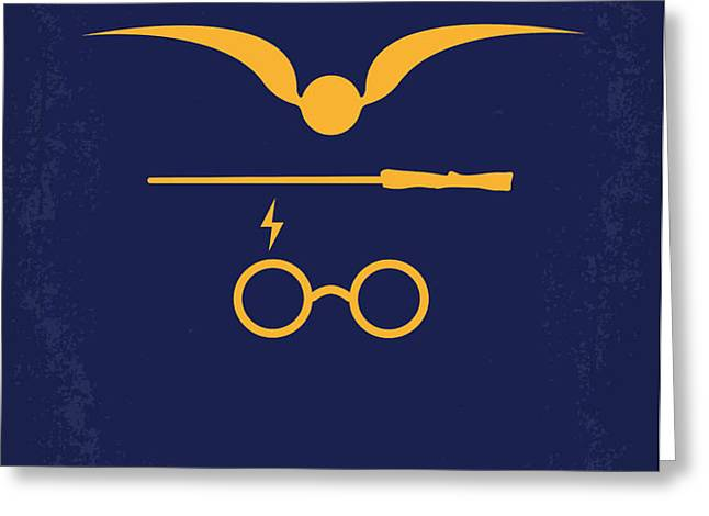 No101 My Harry Potter minimal movie poster Greeting Card by Chungkong Art