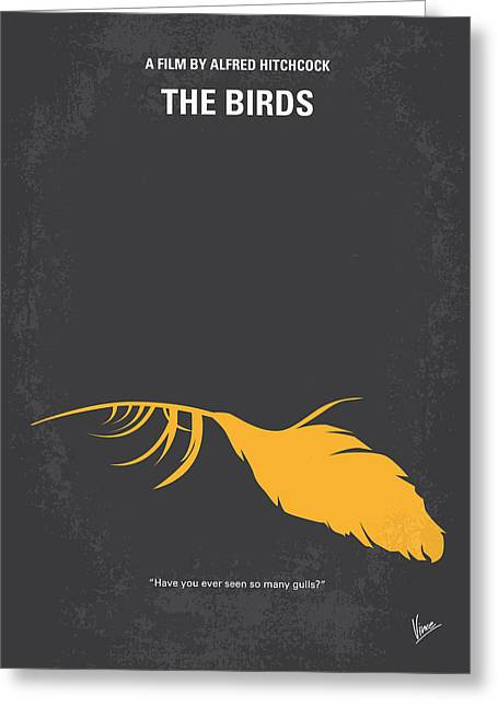 No110 My Birds Movie Poster Greeting Card by Chungkong Art
