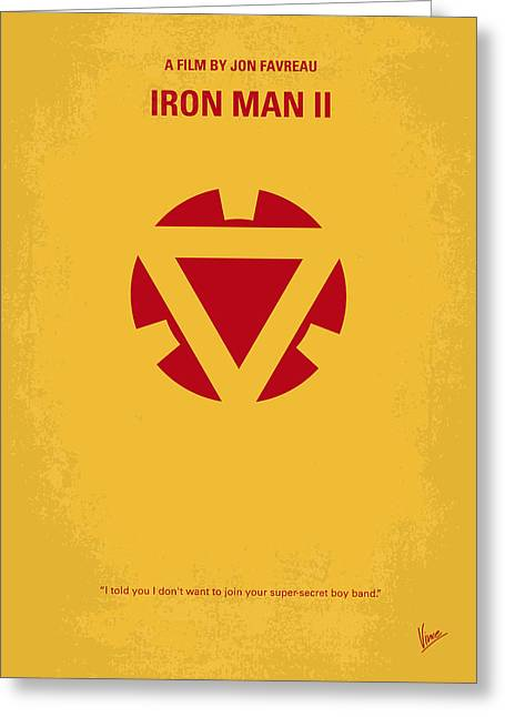 Iron Greeting Cards - No113 My Iron man minimal movie posterNo113-2 My Iron man 2 minimal movie poster Greeting Card by Chungkong Art
