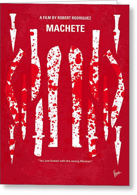 Classic Hollywood Greeting Cards - No114 My Machete minimal movie poster Greeting Card by Chungkong Art