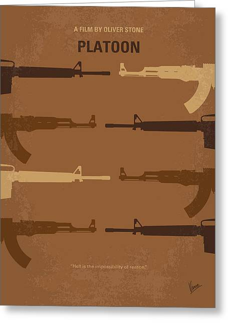 Oliver Greeting Cards - No115 My Platoon minimal movie poster Greeting Card by Chungkong Art