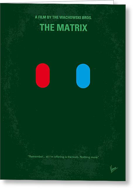 Moss Digital Art Greeting Cards - No117 My MATRIX minimal movie poster Greeting Card by Chungkong Art
