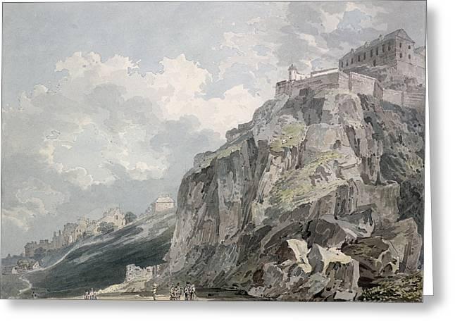 Princes Greeting Cards - No.1187 The Castle Rock, Edinburgh Greeting Card by Thomas Girtin
