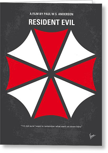 Raccoon Digital Art Greeting Cards - No119 My RESIDENT EVIL minimal movie poster Greeting Card by Chungkong Art