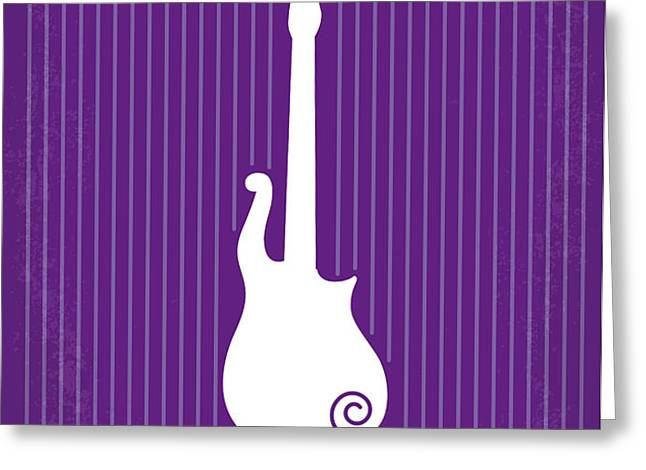 No124 My PURPLE RAIN minimal movie poster Greeting Card by Chungkong Art