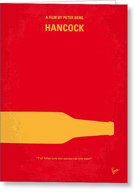 Color Digital Art Greeting Cards - No129 My HANCOCK minimal movie poster Greeting Card by Chungkong Art