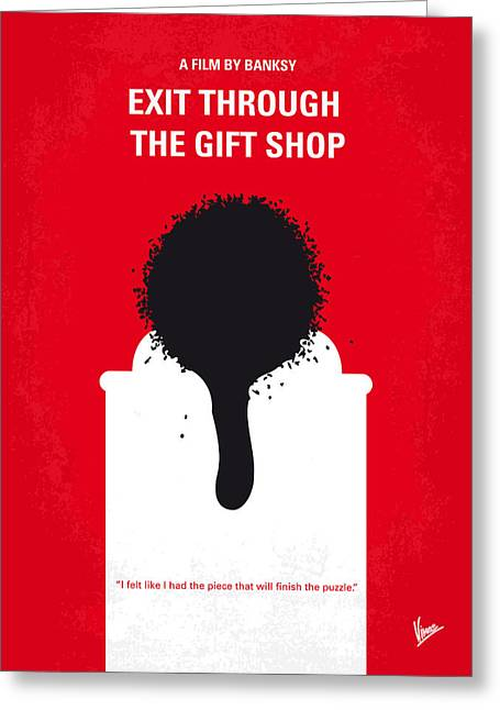 Through Greeting Cards - No130 My Exit Through the Gift Shop minimal movie poster Greeting Card by Chungkong Art