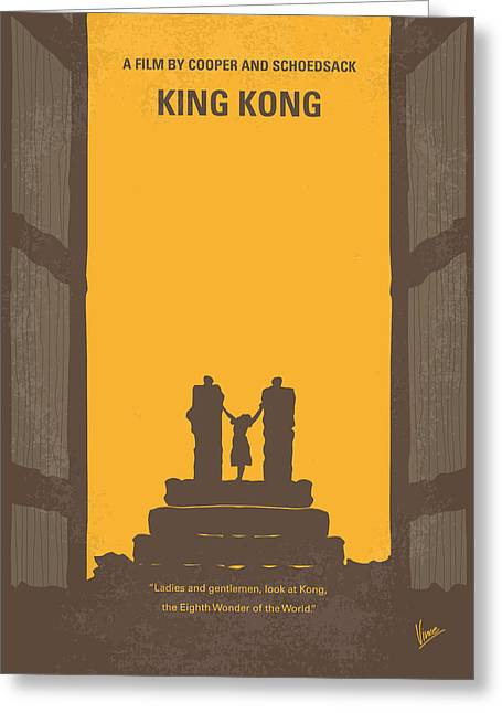 Skull Digital Art Greeting Cards - No133 My KING KONG minimal movie poster Greeting Card by Chungkong Art