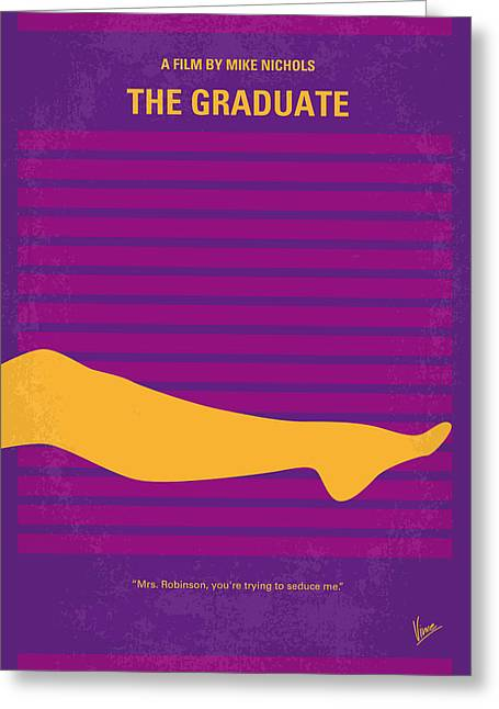 The Posters Greeting Cards - No135 My THE GRADUATE minimal movie poster Greeting Card by Chungkong Art