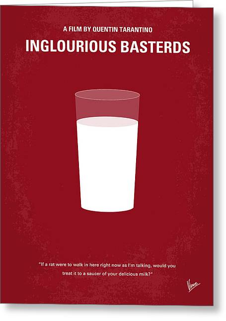 Bat Digital Greeting Cards - No138 My Inglourious Basterds minimal movie poster Greeting Card by Chungkong Art
