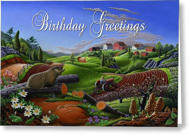 no14 Birthday Greetings 5x7 greeting card  Greeting Card by Walt Curlee