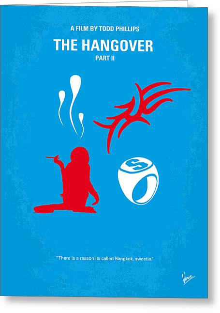 Bangkok Greeting Cards - No145 My THE HANGOVER PART 2 minimal movie poster Greeting Card by Chungkong Art