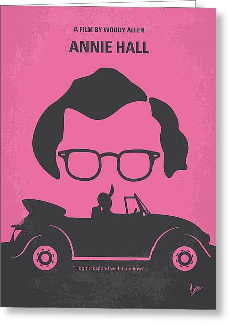 Hall Digital Art Greeting Cards - No147 My Annie Hall minimal movie poster Greeting Card by Chungkong Art