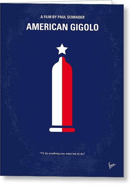 Classic Hollywood Greeting Cards - No150 My American Gigolo minimal movie poster Greeting Card by Chungkong Art