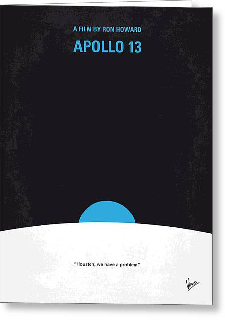 Rocket Greeting Cards - No151 My Apollo 13 minimal movie poster Greeting Card by Chungkong Art