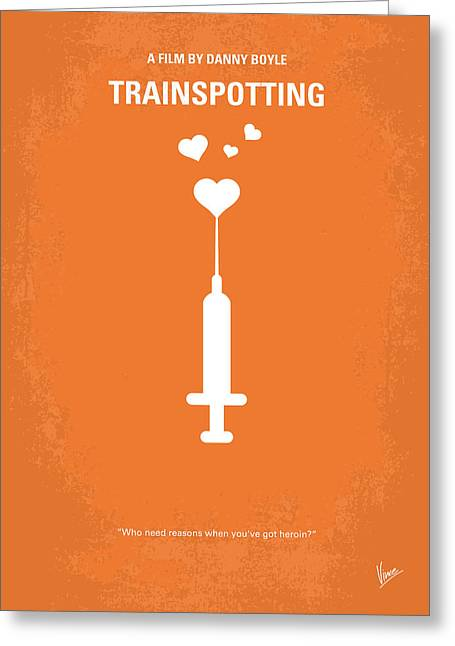 Classic Hollywood Greeting Cards - No152 My TRAINSPOTTING minimal movie poster Greeting Card by Chungkong Art