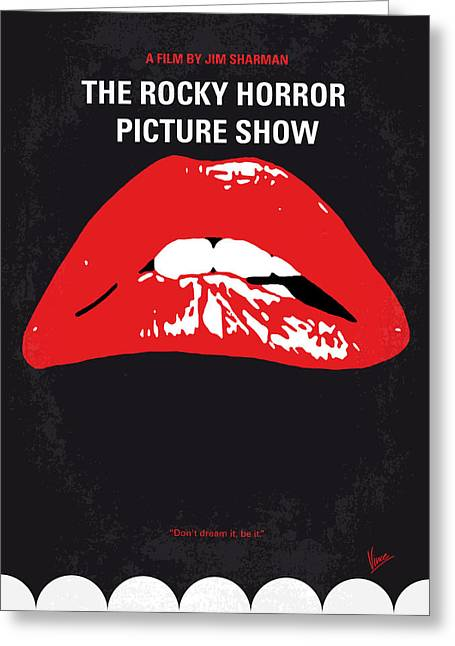 Horror Film Greeting Cards - No153 My The Rocky Horror Picture Show minimal movie poster Greeting Card by Chungkong Art