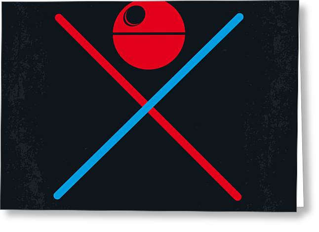 No154 My STAR WARS Episode IV A New Hope minimal movie poster Greeting Card by Chungkong Art
