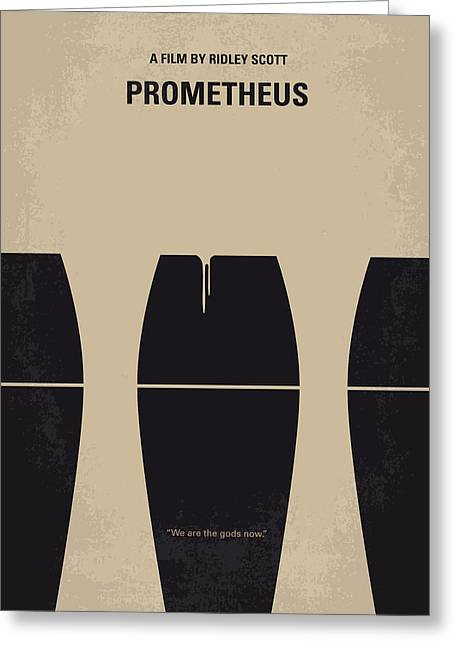 Scifi Greeting Cards - No157 My Prometheus minimal movie poster Greeting Card by Chungkong Art