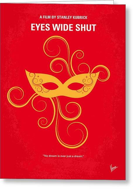 Masked Greeting Cards - No164 My Eyes wide shut minimal movie poster Greeting Card by Chungkong Art