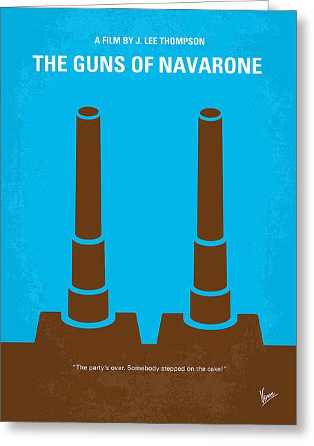 No168 My The Guns Of Navarone Minimal Movie Poster Greeting Card by Chungkong Art