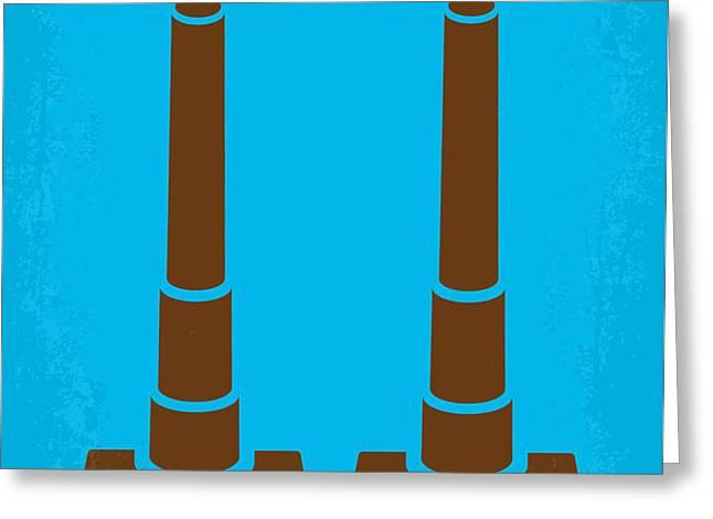 No168 My The Guns of Navarone minimal movie poster Greeting Card by Chungkong Art