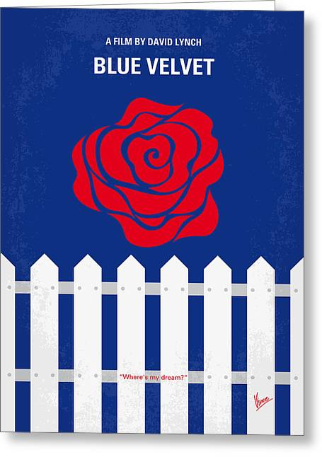 Artwork Greeting Cards - No170 My BLUE VELVET minimal movie poster Greeting Card by Chungkong Art