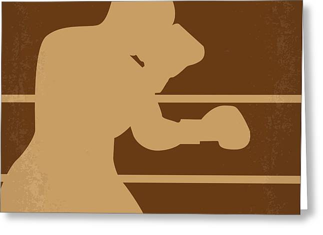 No174 My Raging Bull minimal movie poster Greeting Card by Chungkong Art