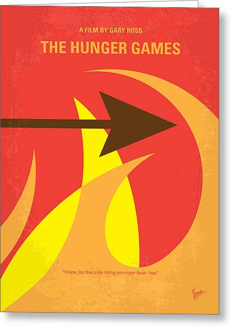Bows Greeting Cards - No175 My Hunger Games minimal movie poster Greeting Card by Chungkong Art