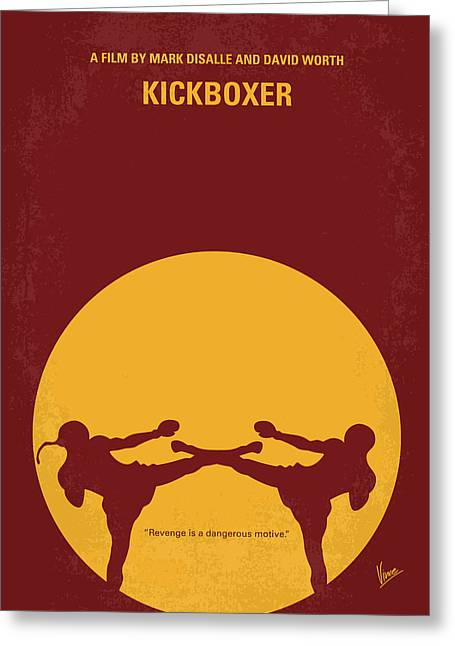 Kickboxers Greeting Cards - No178 My Kickboxer minimal movie poster Greeting Card by Chungkong Art