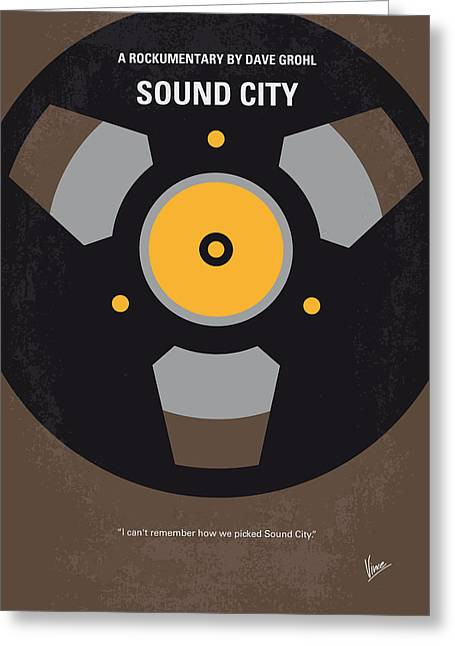 Wall City Prints Greeting Cards - No181 My Sound City minimal movie poster Greeting Card by Chungkong Art