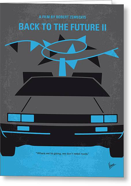 Idea Greeting Cards - No183 My Back to the Future minimal movie poster-part II Greeting Card by Chungkong Art